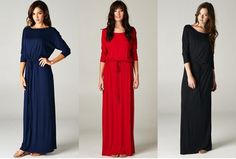 The casual boyfriend maxi dress with sleeves is back for $48