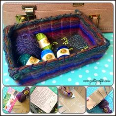 What to do with CHA Swag Guilt -DIY YarnBasket using Clover Basket Frame by Angela Daniels