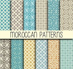 Moroccan tiles Arabic patterns Instant by babushkadesign on Etsy
