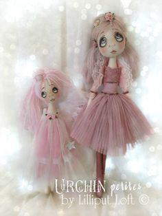Urchin Art Dolls by Vicki at Lilliput Loft