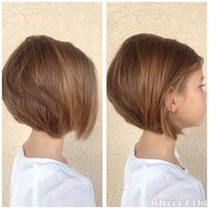 Cute Short Stacked Bob Hairstyles for little girls - Hairstyles Weekly - Beauty Girls Short Haircuts Kids, Bob Haircut For Girls, Cute Bob Haircuts, Little Girl Haircuts, Stacked Bob Hairstyles, Simple Hairstyles, Little Girl Short Hairstyles, Short Hair For Kids, Haircut Bob