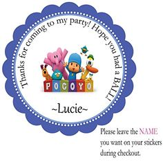 TV Show Pocoyo-12 Individual Pre-cut Peel and Stick Party Favor Stickers- Birthday Custom Labels Treat Favor Round Tags BeautyAndBrainsGirls http://www.amazon.com/dp/B013GPK0VY/ref=cm_sw_r_pi_dp_tx-8vb0WVNQCF