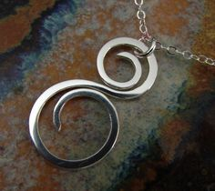 Silver Curl necklace #necklace #silver #jewelry