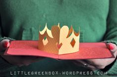 Pop up card tutorial. A crown for a princesse :)