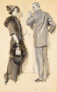 Magazine Story Illustration - 1911 - by Howard Chandler Christy