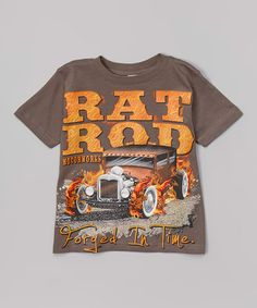 Look what I found on #zulily! Charcoal 'Rat Rod' Tee - Toddler & Boys #zulilyfinds