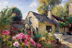 Garmash La Maison De Provence painting for sale, this painting is available as handmade reproduction. Shop for Garmash La Maison De Provence painting and frame at a discount of off. Paintings For Sale, Original Paintings, Fine Art, House Painting, Painting Canvas, Online Art Gallery, Les Oeuvres, Artwork, Cool Art