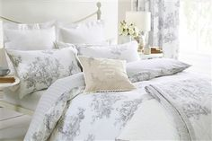 Buy Grey Toile Print Bed Set from the Next UK online shop