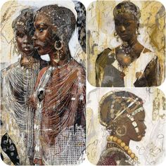 Marta Gottfried is a fabulous artist. I have all three of these hanging on my bedroom walls. Art Work, Walls, African, Bride, Bedroom, Drawings, Artist, Painting, Artwork