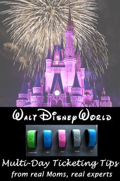 Take some advice on multi-day tickets at Walt Disney World from some experts moms who have been there!