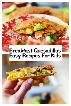 Breakfast Quesadillas Easy Recipes For Kids Easy Meals For Kids, Kids Meals, Allrecipes Recipe, Breakfast Bagel, Whole Wheat Tortillas, Monterey Jack Cheese, Emu, Quesadillas, Easy Cooking