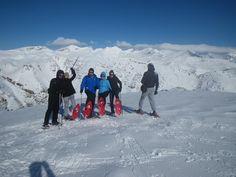 snow shoes hike in Tymfi mountain, Zagori, Greece