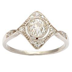 diamond within a diamond art deco ring