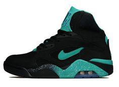 Nike Air Force 180 Mid Black /Atomic Teal Sneaker