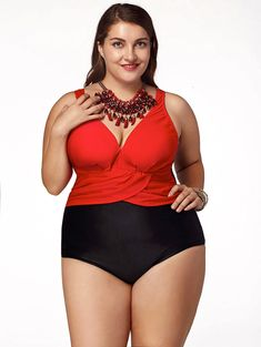 SHARE & Get it FREE | Attractive Plus Size Color Block Plunging Neck One-Piece Swimwear For WomenFor Fashion Lovers only:80,000+ Items • New Arrivals Daily • Affordable Casual to Chic for Every Occasion Join Sammydress: Get YOUR $50 NOW!