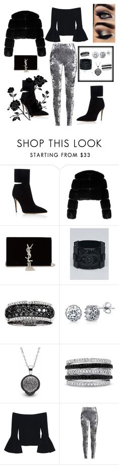 """""""🖤"""" by yaya-doll ❤ liked on Polyvore featuring Paul Andrew, Givenchy, Yves Saint Laurent, Chanel, Effy Jewelry, BERRICLE and Alexis"""