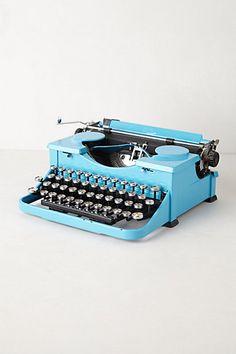 Vintage Typewriter #anthropologie