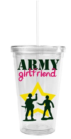 $12 Personalized Army Girlfriend Tumbler.