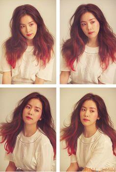 Ji Min Han. red hair