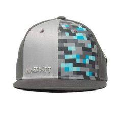 Minecraft Diamond Crafting Premium Snap-Back Hat Cap