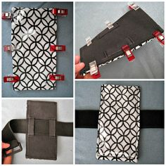 How to make a music player pouch. Touchscreen Phone Armband With Pocket - Step 4