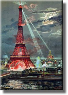 Vintage Eiffel Tower Picture on Acrylic , Wall Art Décor, Ready to Hang!