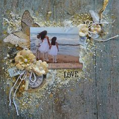 Love- Mixed media/Shabby Chic Scrapbooking Layout