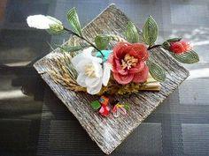 ビーズフラワー sachi : 紅白の椿