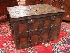 Treasure Chests | Antique Iron Bound Armada Chest (British, ca. 1640) | Naval Design