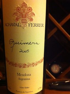 Twitter @astudentofwine: A very mature #WineWednesday w/Achaval-Ferrer 2005 Quimera: #Argentina blend.Elegant 92+pts challenges Bordeaux