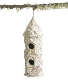 Birdhouse Tall w/Bark