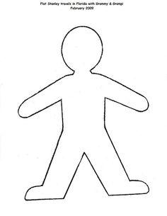 Little Girl Body Outline Template NextInvitation Templates