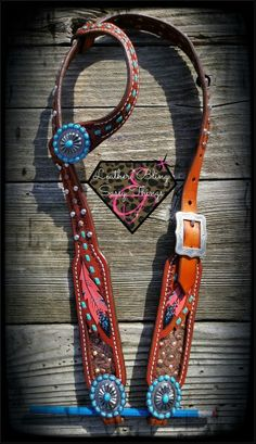 Find me on FB for hand painted horse tack, Rope cans, leather, bronc nosebands, belts, witherstraps, headstalls, hats, caps and more.. #barrel racing, #horsetack, #leather