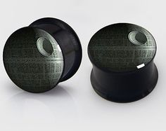 Death Star Flesh Tunnel, Pair of Wars of Star Plugs (2G - 22mm) Pick Your Ear Gauge Size - New!