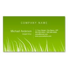 Green Grass business card. Make your own business card with this great design. All you need is to add your info to this template. Click the image to try it out!