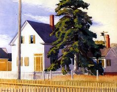 bofransson:    House with Big Pine Edward Hopper - 1935