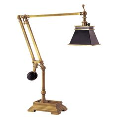 Visual Comfort E. Chapman Engraver's Desk Lamp in Antique-Burnished Brass with Black Shade Comfort & Co.Engraver's Desk Lamp in Antique-Burnished Brass with Black ShadeProduct Code: Antique-Burnished BrassColle Kids Lighting, Lighting Store, Home Lighting, Lighting Design, Portable Shade, Chart House, Visual Comfort Lighting, Lighting Showroom, Circa Lighting