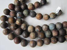 VSH-001 Versteend hout, (streng) 20 mm   Versteend hout   Exotische Kralen / Wellness Jewelry