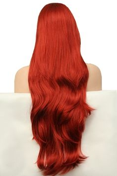 BEAUTIFUL// GORGEOUS // Flowing Long Layers Full Wig // Henna Red