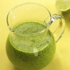 Cilantro-Lime Vinaigrette, so fresh!   http://www.eatingwell.com/recipes/cilantro_lime_vinaigrette.html