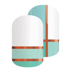 Hopscotch | Jamberry - This metallic nail wrap with shades of blue and white make this mixed mani a must have!