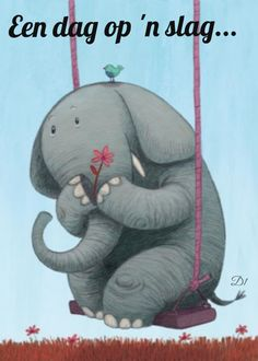 Oh how I love to go up in a swing. Illustration of an Elephant on a Swing Image Elephant, Elephant Love, Elephant Art, Elephant Illustration, Children's Book Illustration, Character Illustration, Elefant Wallpaper, Illustration Mignonne, Illustration Inspiration