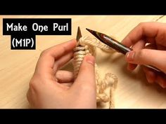 How to Knit a Make One Purl Knitting Increase - Right & Left Leani. Mitten Gloves, Mittens, Knitting Increase, Knitting Stiches, Beading Tutorials, Free Pattern, Knit Crochet, Sewing, Knits