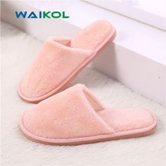 f98da207e665f US $5.3 |Waikol Winter Home Women Slippers Indoor Bedroom House Soft Cotton  Warm Shoes Women's Slipper Female Flats Christmas Gift-in Slippers from  Shoes on ...