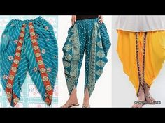New sewing crafts tutorials fabrics Ideas Salwar Designs, Blouse Designs, Dress Sewing Patterns, Clothing Patterns, Trajes Pakistani, Tulip Pants, Salwar Pattern, Stitching Dresses, Back Neck Designs