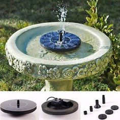 Solar Powered Easy Bird Fountain Kit - Great Addition to Your Garden! - Next Deal Shop - 1