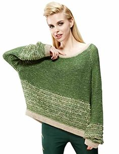 Elf Sack Womens Winter Sweater Round Neck Color Blocks Piecing Pastoral Loose Small Size Green Elf Sack http://www.amazon.com/dp/B00ODP5XVY/ref=cm_sw_r_pi_dp_WpxCub0AWN072