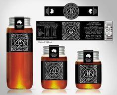 Create a high end Manuka honey label for Honey Bee Hill Co Honey Packaging, Tea Packaging, Bottle Packaging, Packaging Design, Australian Honey, Honey Bottles, Honey Logo, Honey Label, Bee Supplies