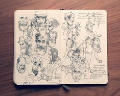 El sketchbook de Jared Muralt