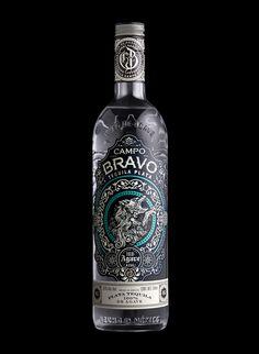 stranger and stranger - Campo Bravo Tequila Beverage Packaging, Bottle Packaging, Brand Packaging, Design Packaging, Food Packaging, Coffee Packaging, Label Design, Web Design, Package Design